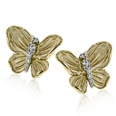18k Yellow Gold Diamond DE267 Earring