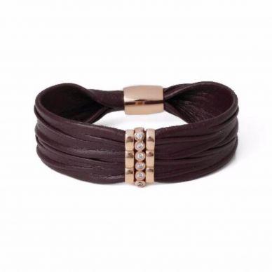 Henderson Collection Luca Burgundy Leather Bracelet