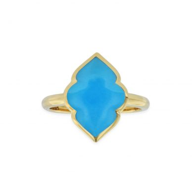 Kabana GRC677T Yellow Gold Turquoise Ring