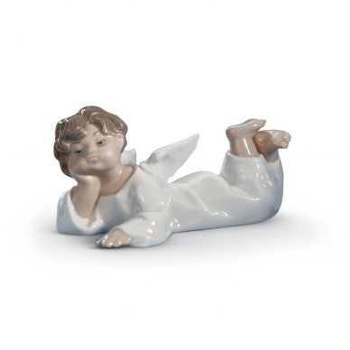 Lladro 01004541 Angel Lying Down Figurine