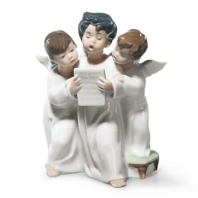 Lladro 01004542 Group Of Angels Figurine