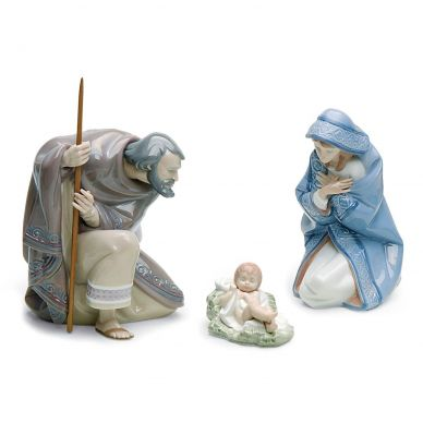 Lladro 01007804 Silent Night Nativity Figurine Set