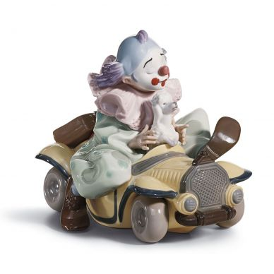 Lladro 01008136 Trip To The Circus Clown Figurine