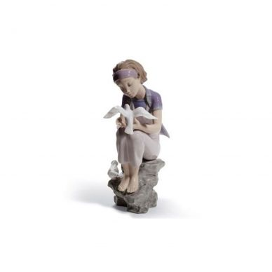 Lladro 01008536 Playing With Doves Figurine
