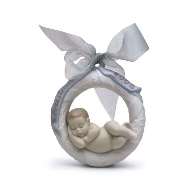 Lladro 01018160 2005 Baby's First Christmas Figurine