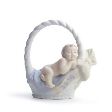 Lladro 01018342 Born In 2010 Boy Figurine