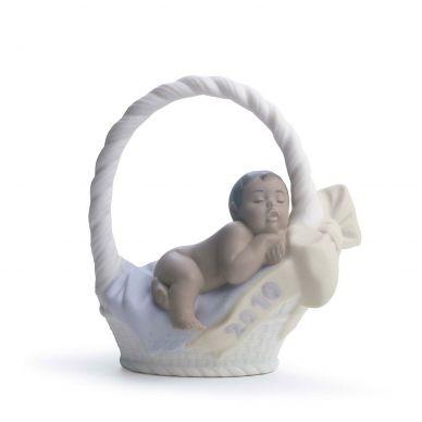 Lladro 01018344 Born In 2010 Baby Boy Figurine