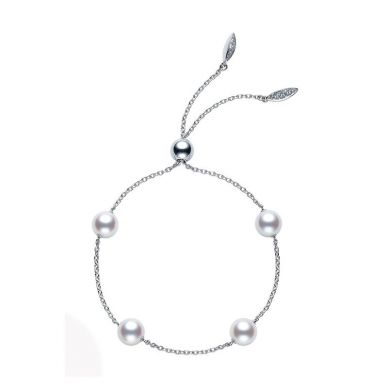 Mikimoto 5 mm Akoya Cultured Pearl Station Bracelet PD129K