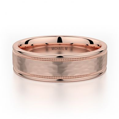 Michael M MB102 6.5mm Men's Rose Gold Wedding Band