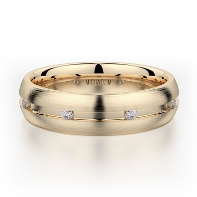 Michael M MB104 6mm Men's Yellow Gold Wedding Band
