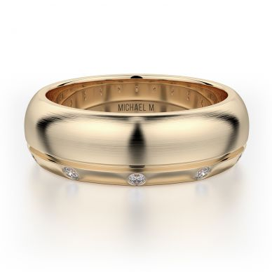 Michael M MB105 7.5mm Men's Yellow Gold Wedding Band