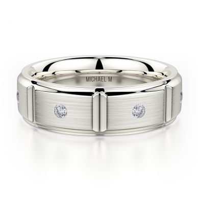 Michael M MB107 7mm Men's Platinum Wedding Band