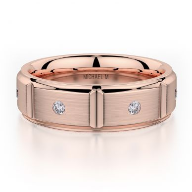 Michael M MB107 7mm Men's Rose Gold Wedding Band