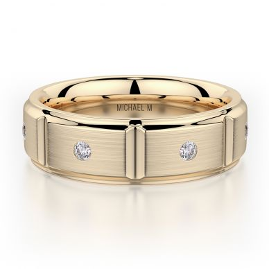 Michael M MB107 7mm Men's Yellow Gold Wedding Band