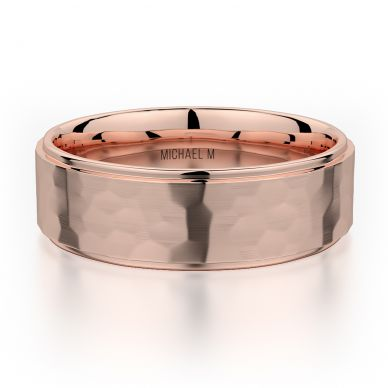 Michael M MB113 7mm Men's Rose Gold Wedding Band
