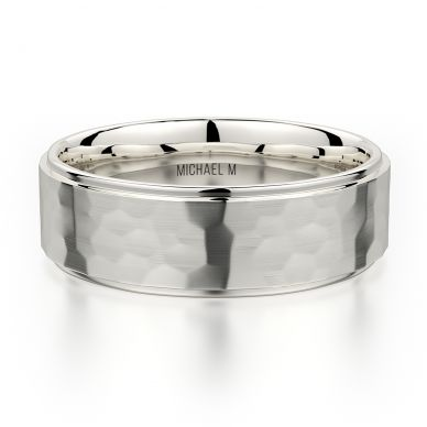 Michael M MB113 7mm Men's White Gold Wedding Band