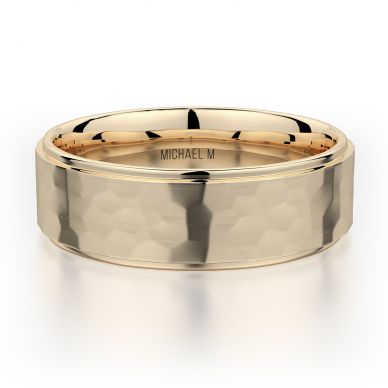 Michael M MB113 7mm Men's Yellow Gold Wedding Band