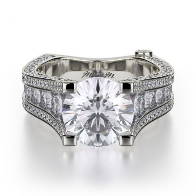 Michael M R302-2 Platinum Round Engagement Ring