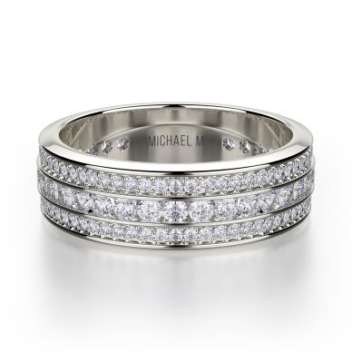 Michael M R323B White Gold Wedding Ring for Women