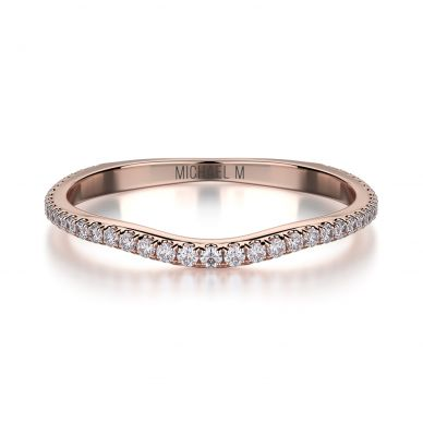 Michael M R440SB Rose Gold Wedding Ring for Women