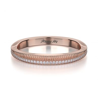 Michael M R575B Rose Gold Wedding Ring for Women