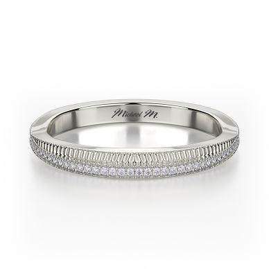 Michael M R575B White Gold Wedding Ring for Women