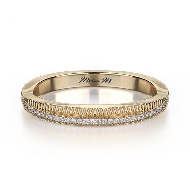Michael M R575B Yellow Gold Wedding Ring for Women
