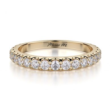 Michael M R693B Yellow Gold Wedding Ring for Women