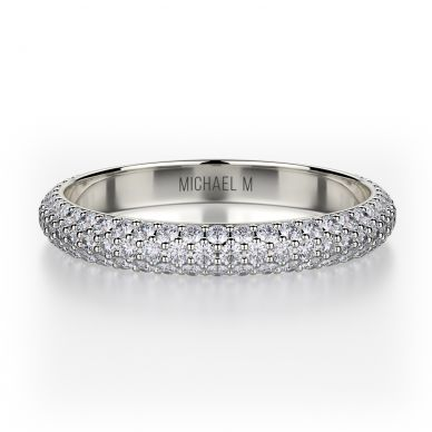 Michael M R699B Platinum Wedding Ring for Women