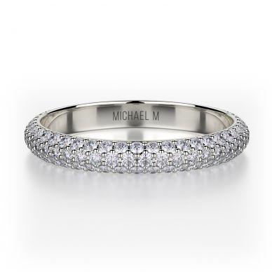 Michael M R699B White Gold Wedding Ring for Women