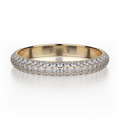 Michael M R699B Yellow Gold Wedding Ring for Women