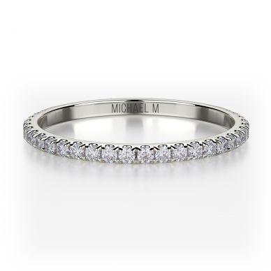 Michael M R706B Platinum Wedding Ring for Women