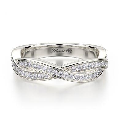 Michael M R709B Platinum Wedding Ring for Women