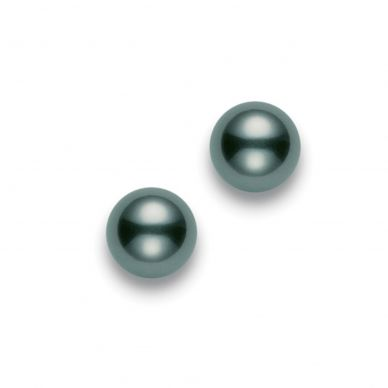 Mikimoto 9.5 mm Tahitian Cultured Black Pearl Stud Earrings PES902BW