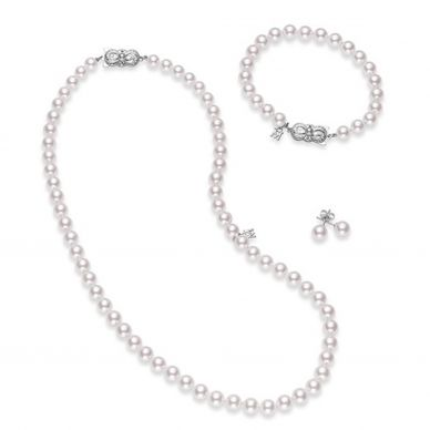 Mikimoto 6 mm-7 mm Akoya Cultured Pearl Necklace and Earring Set UN70118VS1W2