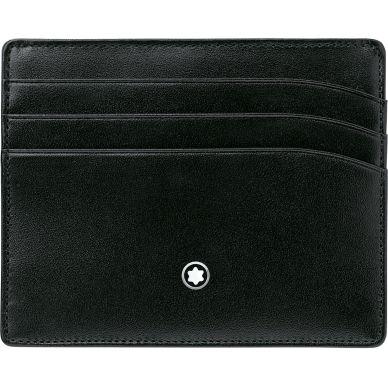 Montblanc Meisterstück Black Leather 6 Card Holder Wallet 106653