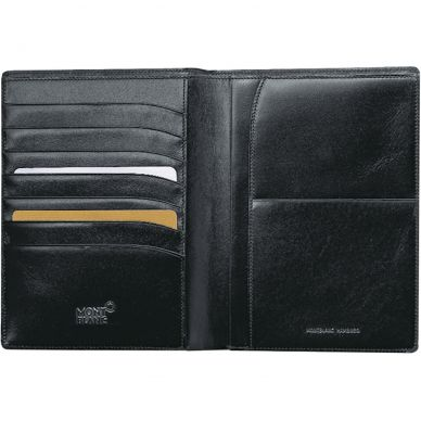 Montblanc Meisterstück Black Leather 7 Card Holder Wallet 14094