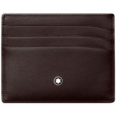 Montblanc Meisterstück Brown Leather 6 Card Holder Wallet 114556