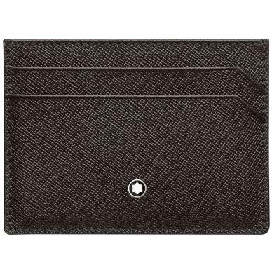 Montblanc Sartoria Black Leather 5 Card Holder Wallet 114604