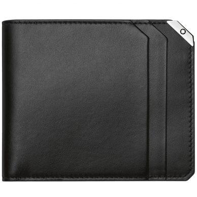 Montblanc Urban Spirit Black Leather 6 Card Holder Wallet 114665
