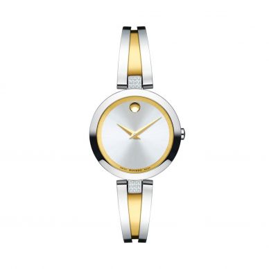 Movado 0607153 Womens Black Dial Watch