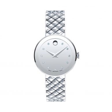 movado stainless steel women's watch