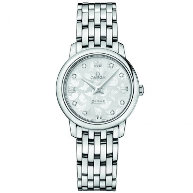 Omega De Ville Prestige Quartz diamond Womens Watch 424.10.27.60.52.001