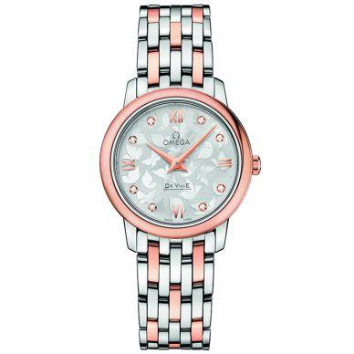Omega De Ville Prestige Quartz diamond Womens Watch 424.20.27.60.52.002