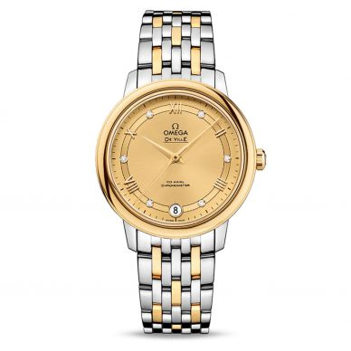 Omega 42420246005001 Womens Two Tone Watch