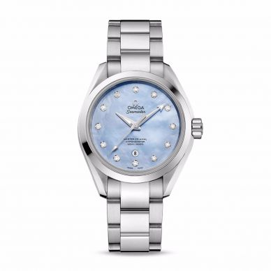 23110306055001 Omega Womens Mother of Pearl and Diamond Watch