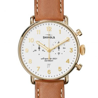 Shinola The Canfield Quartz Chronograph Mens Watch 20044134