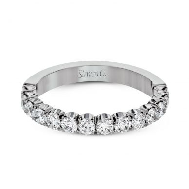 Simon G. LP2339 Classic Platinum Wedding Ring for Women