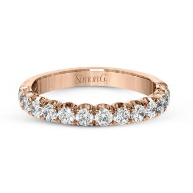 Simon G. LP2347 Rose Gold Simple Diamond Wedding Ring for Women