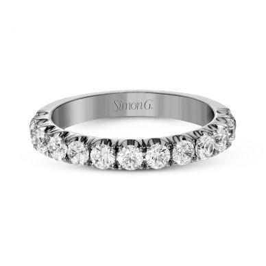 Simon G. LP2349 Pave White Gold Wedding Ring for Women